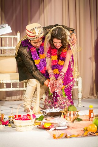 bride-and-groom-wed-in-traditional-indian-hindu-ceremony