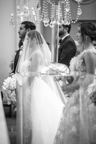 black-and-white-photo-of-armenian-bride-and-groom-getting-married