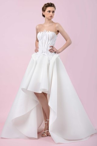 gemy-maalouf-2016-illusion-strapless-wedding-dress-with-high-low-skirt