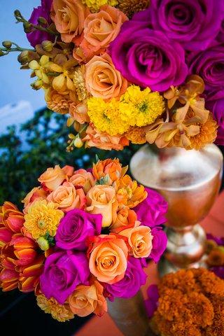 orange-rose-fuchsia-rose-red-and-yellow-tulip-yellow-chrysanthemum-yellow-orchid-wedding-flowers
