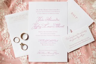 pink-calligraphy-on-invitations-for-wedding-atop-pink-lace