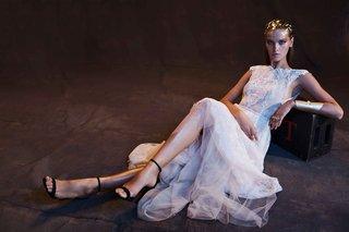 limor-rosen-2017-anastasia-wedding-dress-full-lace-skirt-with-blush-tulle-tip-of-shoulder-sleeves