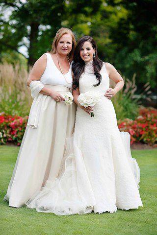 bride-in-vera-wang-wedding-dress-with-white-kate-spade-mother-of-bride-dress