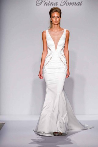 pnina-tornai-for-kleinfeld-2016-illusion-deep-v-wedding-dress-with-cutouts