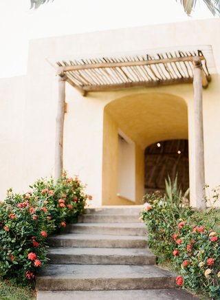 wedding-rehearsal-dinner-welcome-party-hotel-in-sayulita-mexico-greenery-flowers-stairs-and-natural