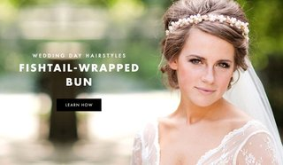 fishtail-braid-wrap-bun-wedding-day-hairstyle