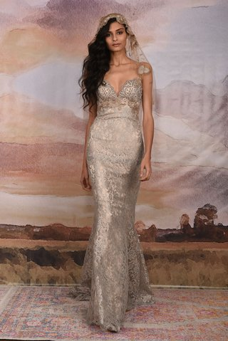 claire-pettibone-vagabond-collection-2018-silver-wedding-dress-lace-flowers-silk-gown