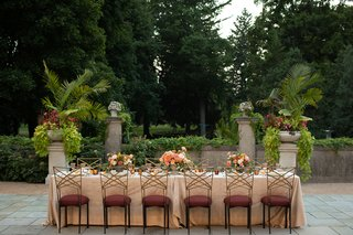 wedding-inspiration-styled-shoot-pale-pink-burgundy-chair-cushions-chameleon-chairs-garden