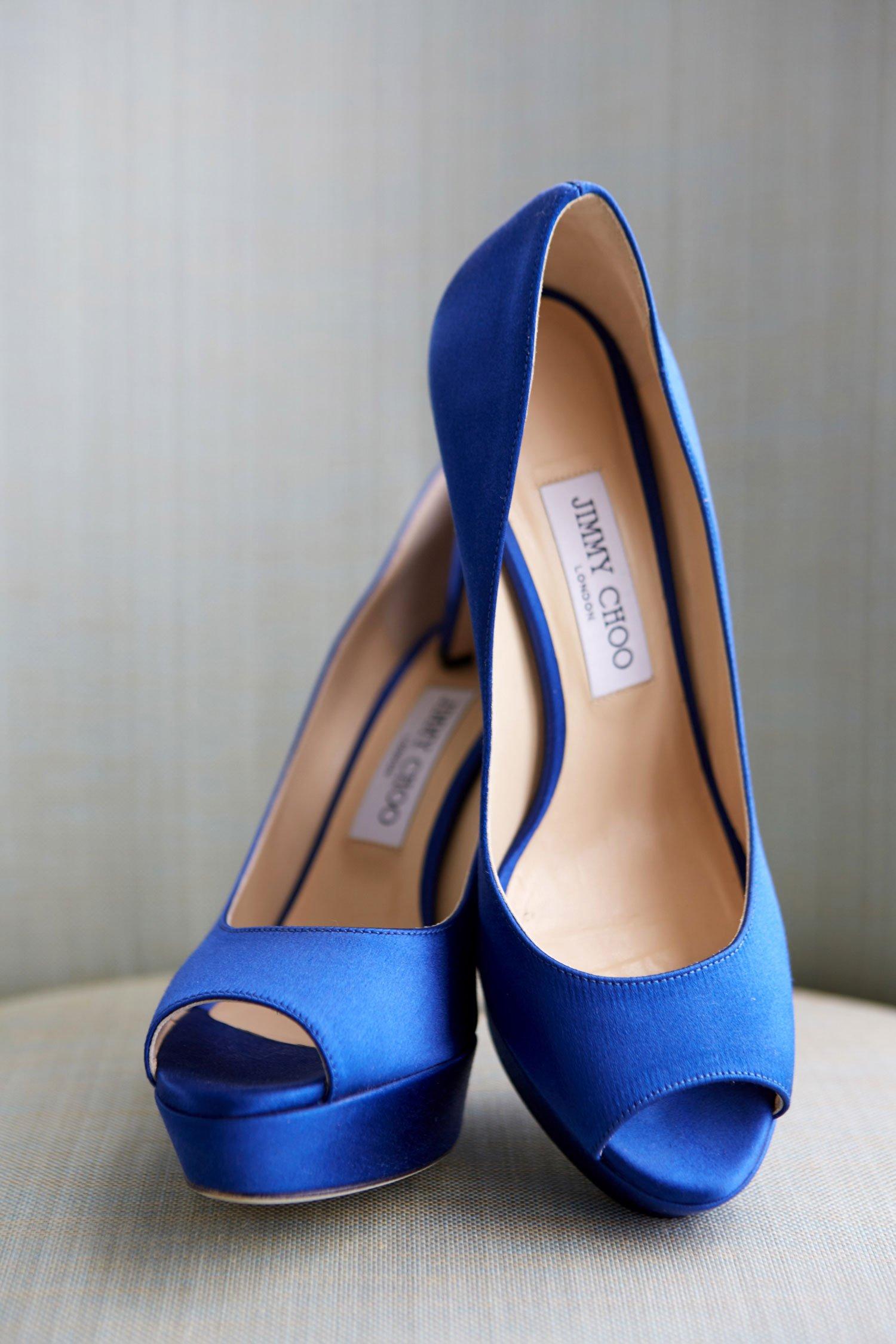 Peep-Toe Cobalt Blue Shoes