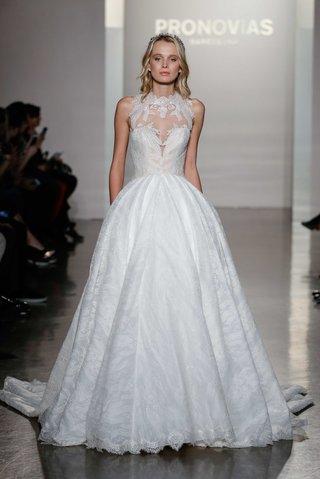 pronovias-2017-neus-ball-gown-lace-tulle-sweetheart-bodice-high-neck-illusion-wedding-dress