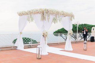 destination-wedding-in-capri-italy-white-chuppah-with-dendrobium-orchids-and-white-chiffon