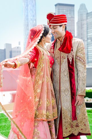 indian-american-bride-and-groom-in-traditional-wedding-attire