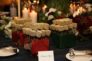 mini-smores-pops-at-holiday-theme-wedding-reception-on-sticks