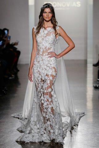 pronovias-2017-natura-illusion-sheath-floral-embroidery-high-neckline-bridal-cape-tulle-wedding