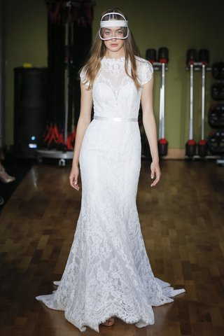 rivini-fall-2018-lace-high-neck-fit-and-flare-gown-with-ribbon-belt