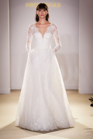 atelier-pronovias-2019-bridal-collection-wedding-dresses-long-sleeve-lace-gown-pockets