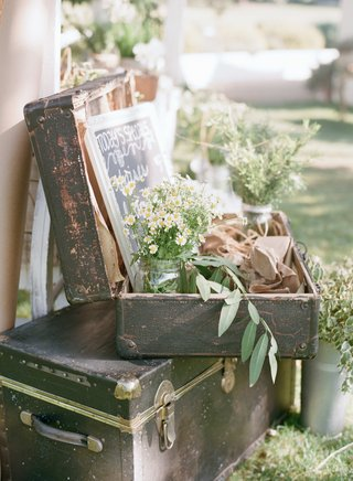 ceremony-programs-displayed-in-vintage-suit-case