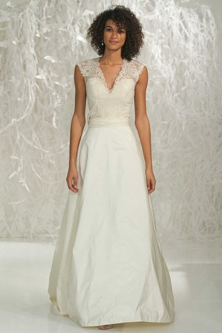 watters-2016-lace-v-neck-top-and-a-line-skirt-wedding-dress-combination