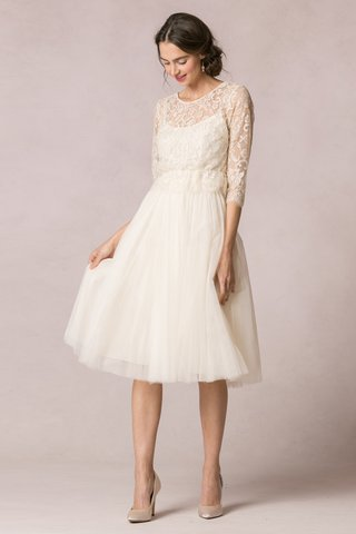 lace-top-over-short-ivory-wedding-dress-by-jenny-yoo