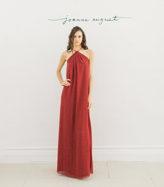 joanna-august-2016-red-halter-neck-bridesmaid-dress