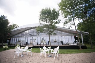 glass-air-conditioned-tent-for-backyard-wedding