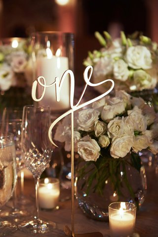 modern-calligraphy-laser-cut-table-number-one-on-wedding-reception-table-at-the-breakers