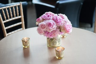 mercury-glass-candles-and-low-floral-centerpiece