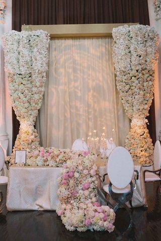 patterned-uplighting-floral-curtain-floral-runner