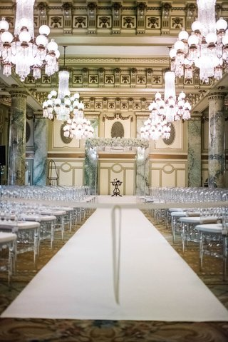 wedding-at-the-crystal-room-in-the-willard-intercontinental-in-washington-dc-chandeliers-over-aisle