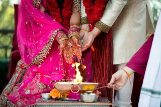 bride-and-groom-partaking-in-traditional-hindu-wedding-ceremony-with-special-customs-and-rituals