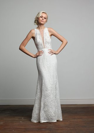 joy-collection-barbara-kavchok-spring-2018-iris-plunging-neckline-lace-wedding-dress-satin-trim