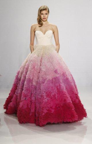 spaghetti-straps-sweetheart-neckline-lydia-hearst-pink-ombre-skirt-blush-ballgown-christian-siriano