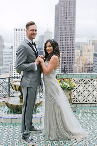 wedding-portrait-for-lets-get-lexi-youtuber-alexis-cozombolidis-and-baseball-player-hunter-pence