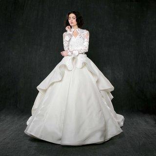 sareh-nouri-spring-2017-dahlia-wedding-dress-ball-gown-with-peplum-ruffle-and-lace-jacket