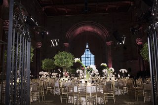 wedding-reception-at-cipriani-wall-street-with-gold-chairs-white-orchids-calla-lily-bouquets
