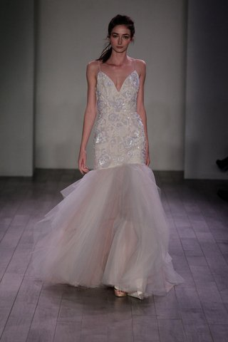 trumpet-wedding-dress-with-flower-print-bodice-and-blush-tulle-skirt