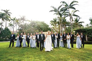 bride-in-marchesa-wedding-dress-bridesmaids-in-light-blue-gowns-from-the-dessy-group