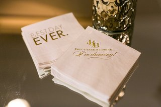 custom-cocktail-beverage-napkins-with-best-day-ever-and-dont-take-my-drink-im-dancing-words-gold