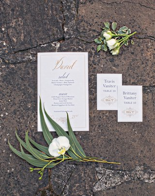 wedding-stationery-white-gold-menu-card-with-calligraphy-names-for-menu-and-monogram-escort-card