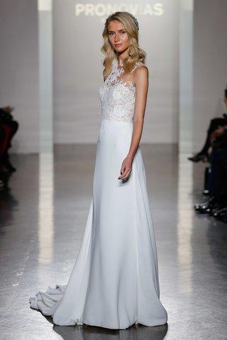 pronovias-2017-natia-sheath-crepe-skirt-high-neckline-illusion-lace-tulle-wedding-dress