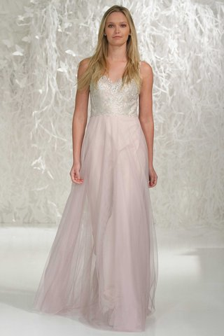wtoo-bridesmaids-2016-bridesmaid-dress-with-pink-skirt-and-silver-embroidery-on-v-neck-bodice