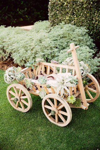 wagon-for-baby-flower-girl-wedding-wagon-with-air-plant-and-succulents