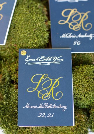blue-and-green-seating-cards-with-gold-pin