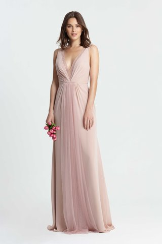 monique-lhuillier-bridesmaids-spring-2017-long-bridesmaid-dress-tulle-chiffon-deep-v-neck-sleeveless