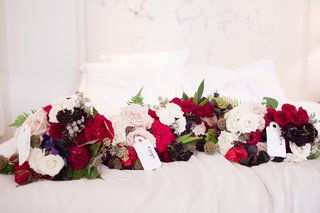 bridesmaid-bouquet-with-wine-color-scheme-red-roses