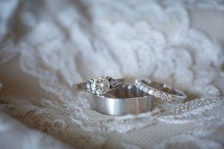 wedding-rings-on-lace-dress-round-diamond-with-side-stones-diamond-wedding-ring-platinum-mens-ring