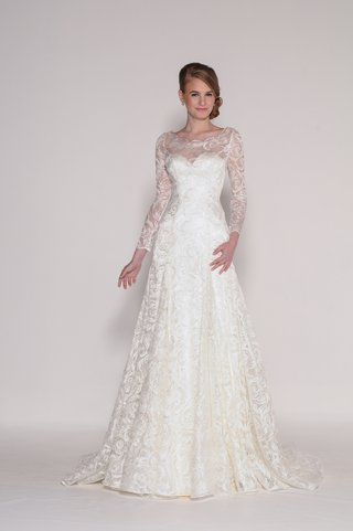 luna-wedding-dress-with-lace-neckline-and-sleeves-by-euguenia-couture-spring-2016