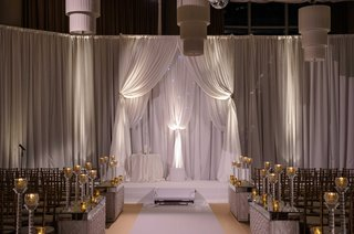 new-years-eve-wedding-with-white-drapery-altar