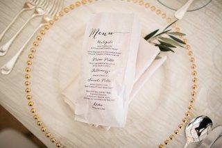 wedding-reception-tasting-menu-with-italian-food-paper-bag-printed-with-tasting-menu