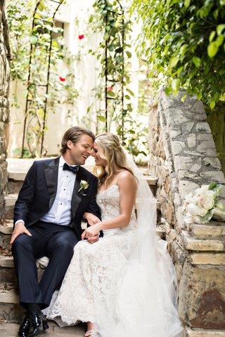wedding-portrait-by-laurie-bailey-photography-bride-in-ines-di-santo-wedding-dress-groom-in-tuxedo
